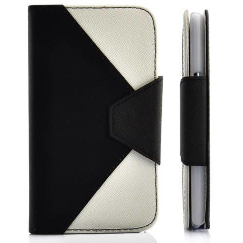 Ретро кошелек для Galaxy Note 2 Черно-белый