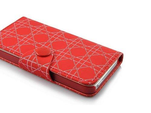 Стильный кожаный чехол кошелек в стиле Ромб для iPhone 5 s