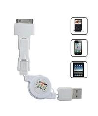3-в-1 USB кабель для гаджетов Apple/Samsung/HTC