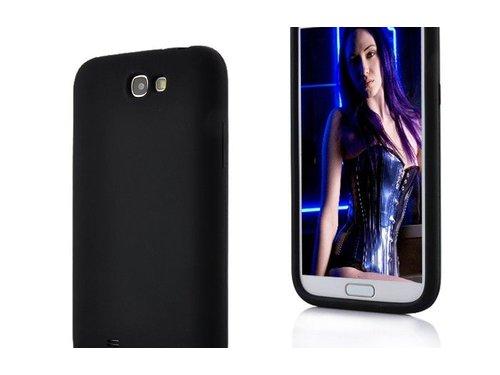 Силиконовый чехол Galaxy Note 2 Черный