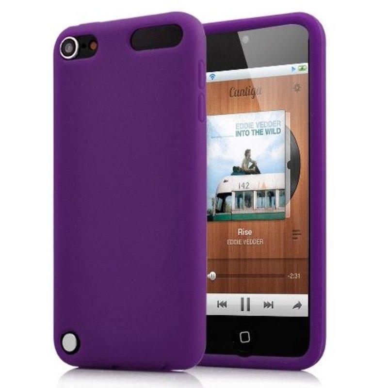 Яркий силиконовый чехол для iPod Touch 5 Фиолетовый