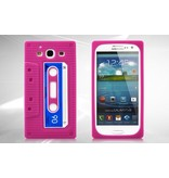 Силиконовый чехол кассета 90-х для Samsung Galaxy S 3 i9300 Розовый