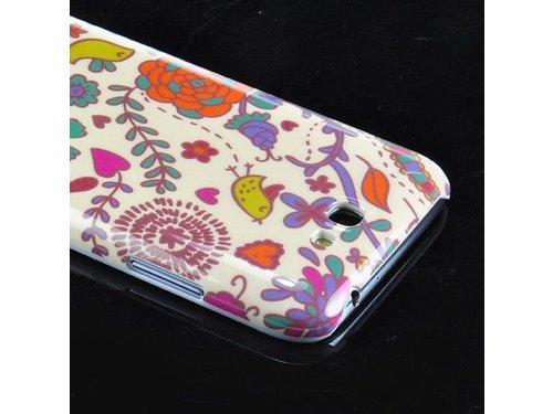 Задняя накладка цветочки для Samsung Galaxy Note 2 N7100