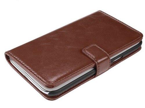 Кожаный чехол для Samsung Galaxy Note 2 N7100 Кошелек Коричневый