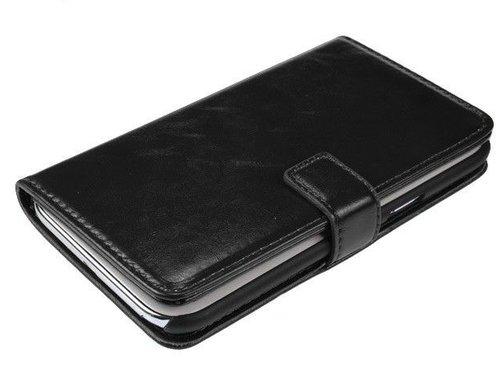 Кожаный чехол для Samsung Galaxy Note 2 N7100 Кошелек Черный
