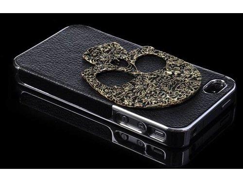 Задняя крышка с черепом для iPhone 4/4s Черная