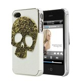 Задняя крышка с черепом для iPhone 4/4s Белая
