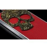 Задняя крышка для iPhone 5 с металлическим черепом Красная