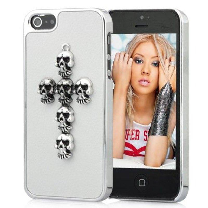 Белая крышка Крест iPhone 5/5s