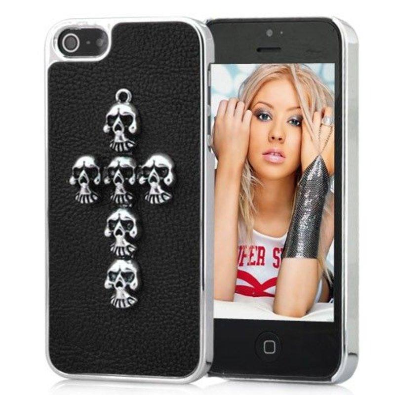 Черная крышка Крест iPhone 5/5s