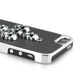 Защитная крышка для iPhone 5/5s с крестом из черепов Черная