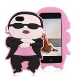 Чехол Psy Gangnam Style для iPhone 5/5s Розовый