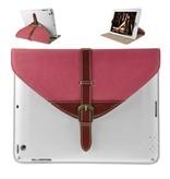 Кожаный чехол портфель для iPad 2, 3, 4 Белый