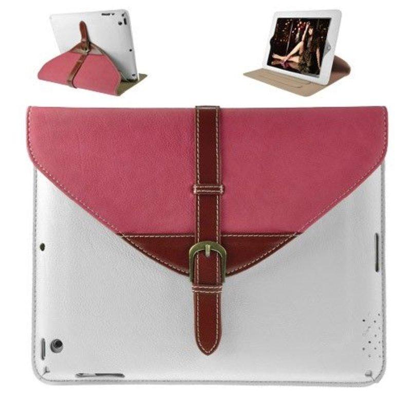 Кожаный чехол портфель iPad 2, 3, 4 Белый