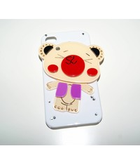 Чехол с зеркалом для iPhone 4 4S Мишка
