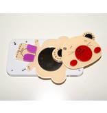 Пластиковый чехол мишка с зеркалом для iPhone 4 4S