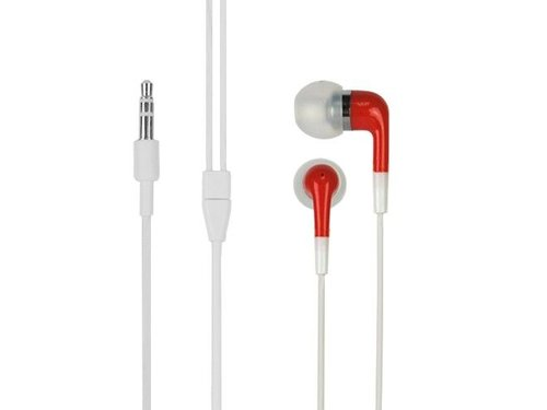 Стерео наушники вкладыши для iPod, iPhone 4/4s/5 Красные