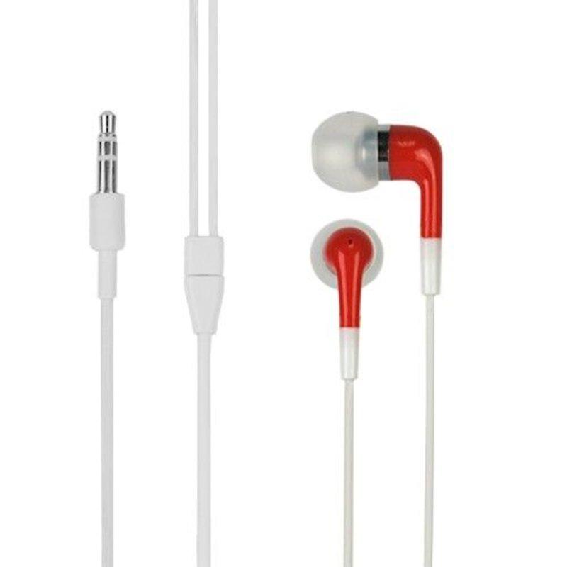 Стерео наушники вкладыши для iPod, iPhone 4/4s/5, iPad и MP3 плееров Красные