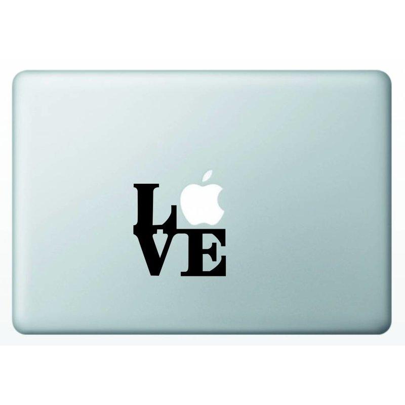Виниловая наклейка для MacBook Love