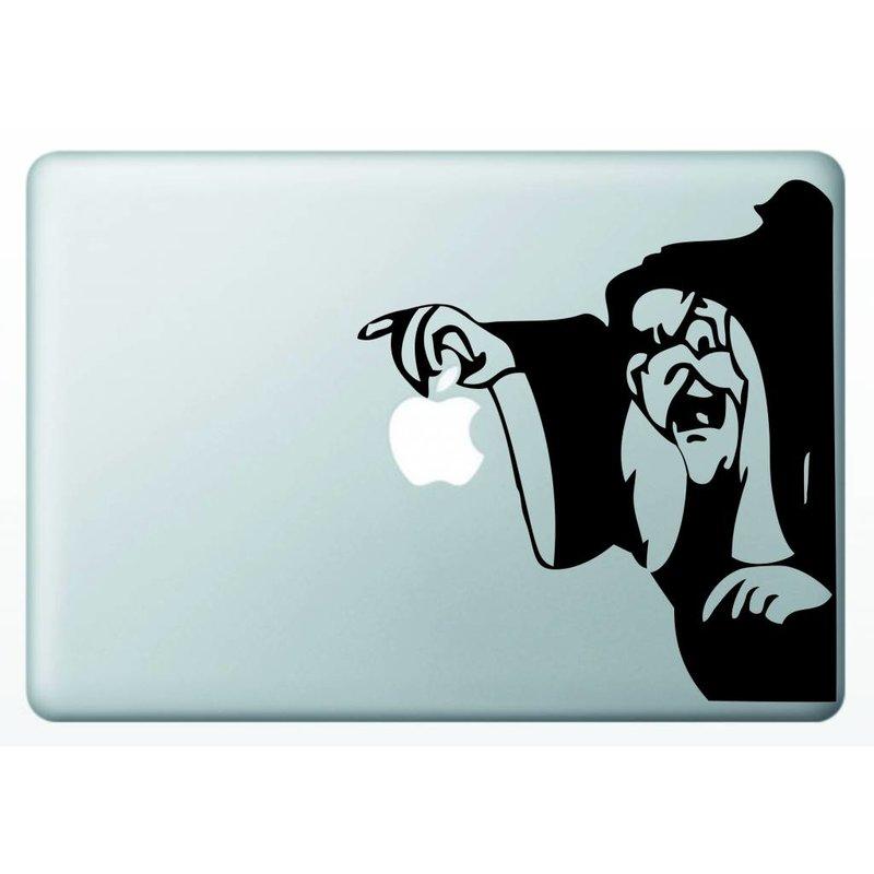 Виниловая наклейка для MacBook Старуха Ведьма