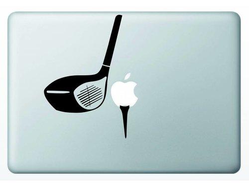 Виниловая наклейка для MacBook Гольф