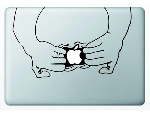 Виниловая наклейка для MacBook Секрет