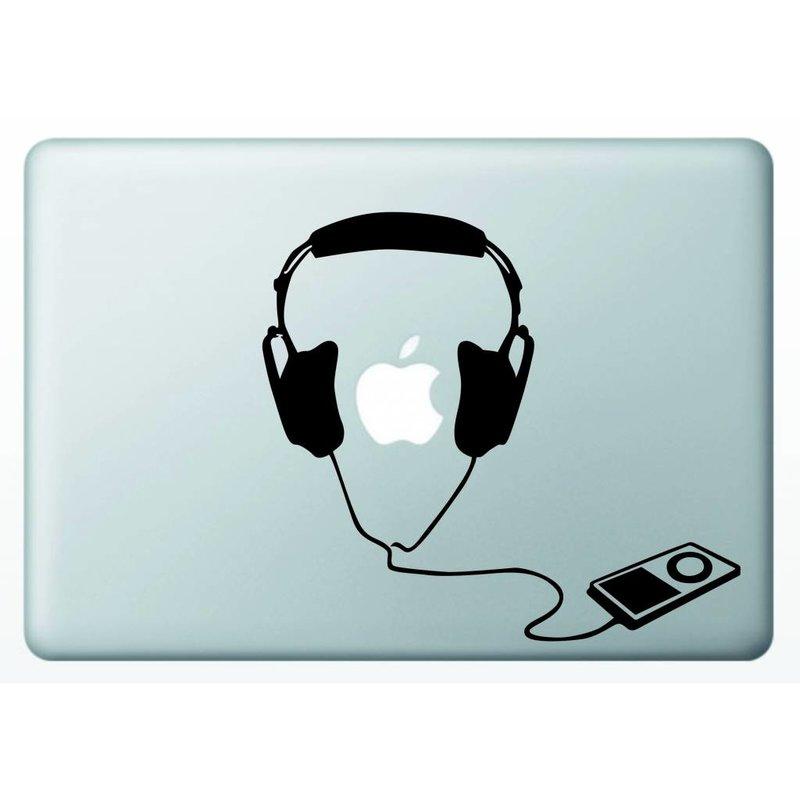 Виниловая наклейка для MacBook iPod и наушники