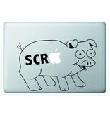 Виниловая наклейка для MacBook Свинья SCR