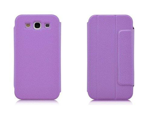 Кожаный чехол с подставкой для Samsung Galaxy S3 i9300 Сиреневый