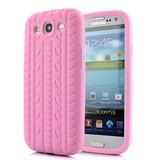 Силиконовый чехол шина для Samsung Galaxy S3 Розовый