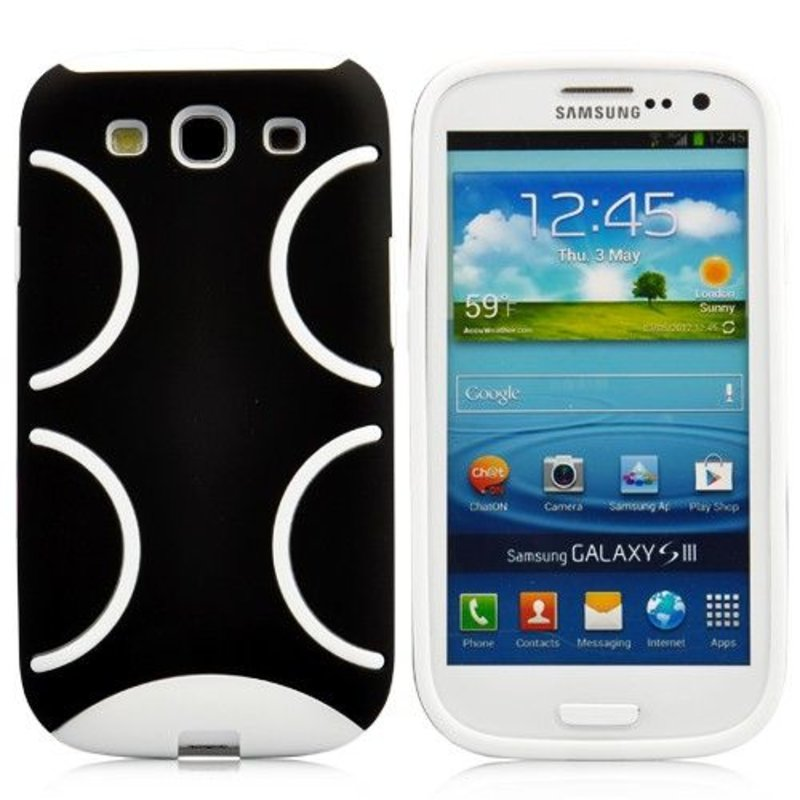 Стильная задняя крышка Samsung Galaxy S 3 Черный