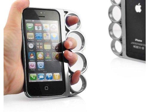 Бампер кастет для iPhone 5/5s Серебряный