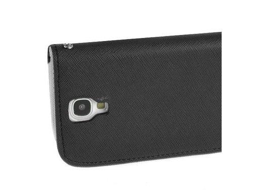 Кожаный чехол кошелек ретро для Samsung Galaxy S4 Черно-белый i9505