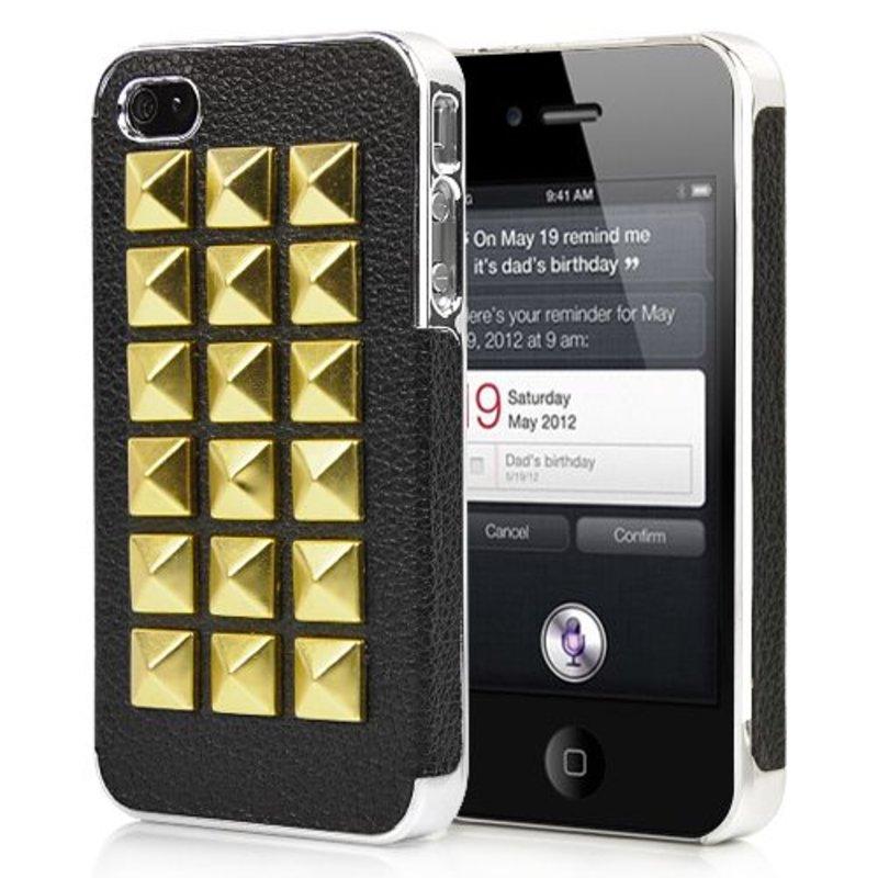 Крышка Заклепки для iPhone 4, 4s Черная