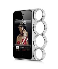 Бампер кастет для iPhone 4, 4s Серебряный