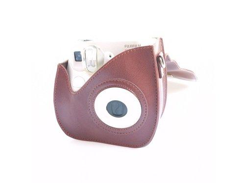 Кожаная сумка чехол для Fujifilm Instax 7S Коричневая
