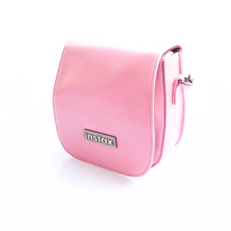 Кожаная сумка для Fujifilm Instax 7s, 8 Розовая