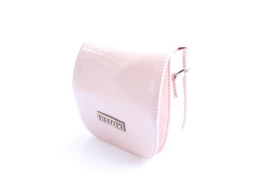 Сумка чехол из кожи Fujifilm Instax 7s, 8, Polaroid 300 Светло-розовая
