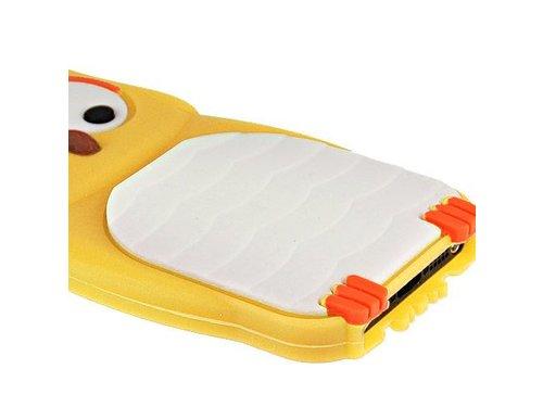 Чехол Сова силиконовый для iPhone 5 Желтый