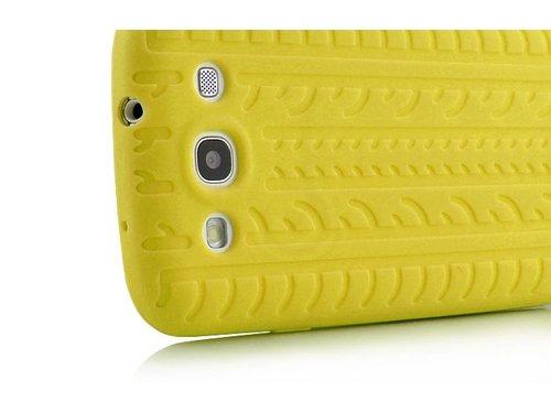Силиконовая накладка шина для Galaxy S3 Желтая