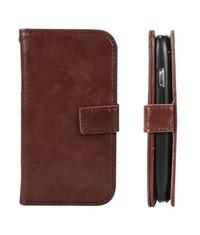 Кошелек бумажник для Galaxy S3 Mini Коричневый