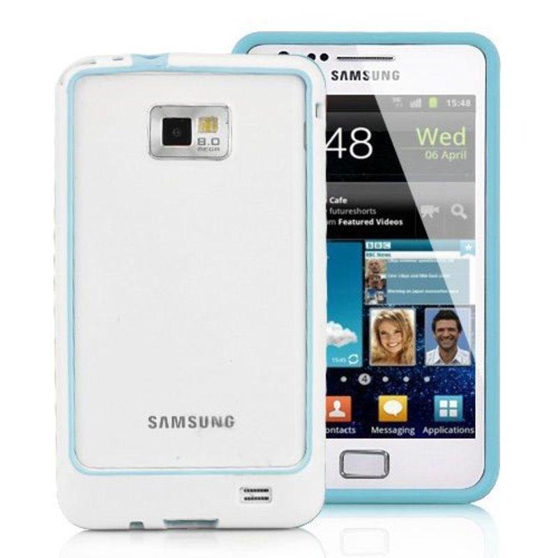 Бампер чехол для Samsung Galaxy S2 Голубой
