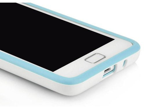 ТПУ бампер чехол для Samsung Galaxy S2 i9100 Голубой