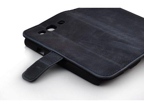 Кошелек чехол премиум для Samsung Galaxy S3 Черный