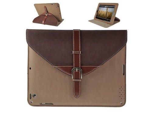 Чехол сумочка с подставкой для iPad 2 3 4 Коричневый