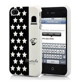 Накладка чехол Усы и Звезды для iPhone 4/4s