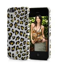 Крышка леопард для iPhone 5/5s Белая
