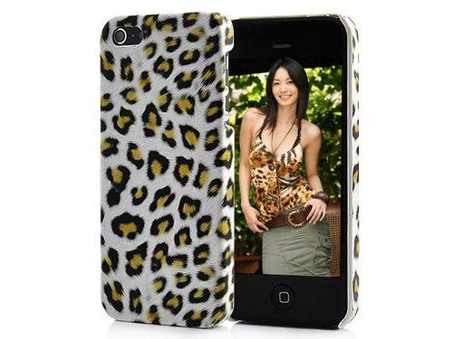 Крышка с леопардовой расцветкой для iPhone 5/5s Белая