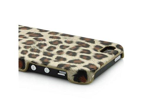 Чехол накладка для iPhone 5/5s Леопард коричневый
