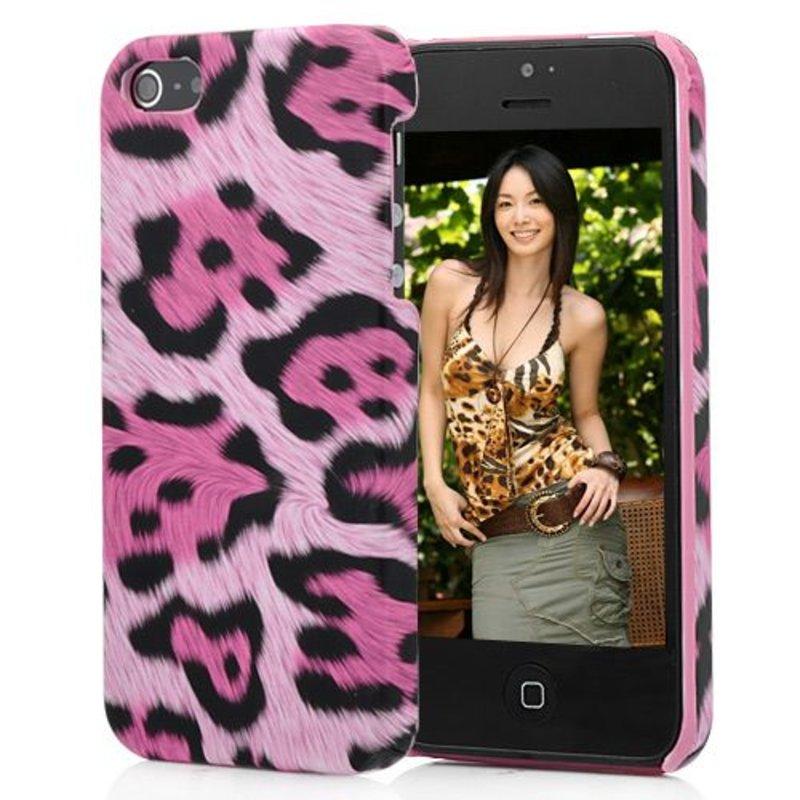 Крышка леопард для iPhone 5/5s Розовая